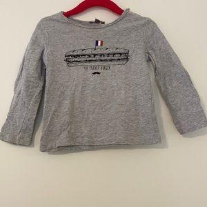 Emile et Ida grey tee shirt